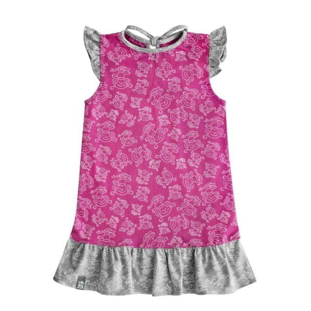 sukienka-dziecko-lato-dziewczynka-bawelna-miapka-szara-przod