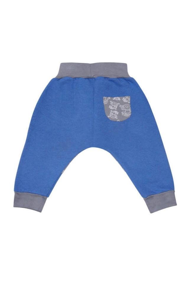 spodnie-cieple-dla-dziecka-bawelna-niebieskie-tyl