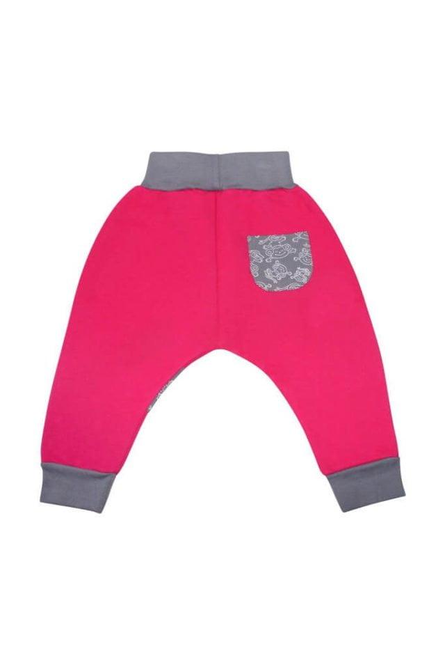 spodnie-cieple-dla-dziecka-bawelna-rozowe-tyl