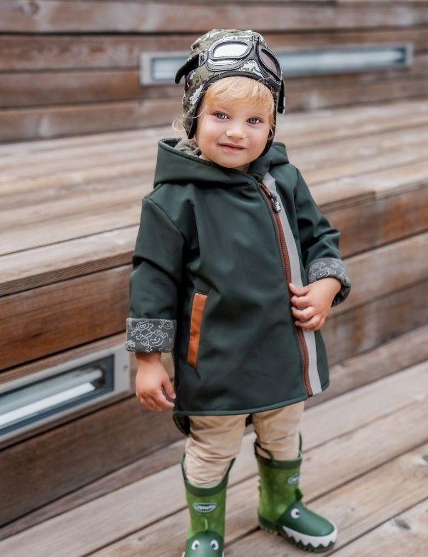 kurtka-softshell-dla-dziecka-zielona