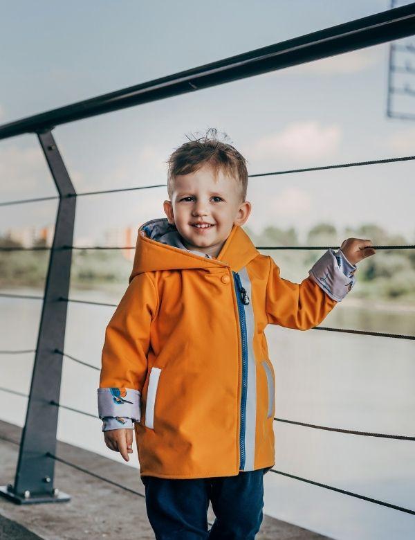 kurtka-softshell-dziecieca-z-patentem-pomaranczowa-zimorodki