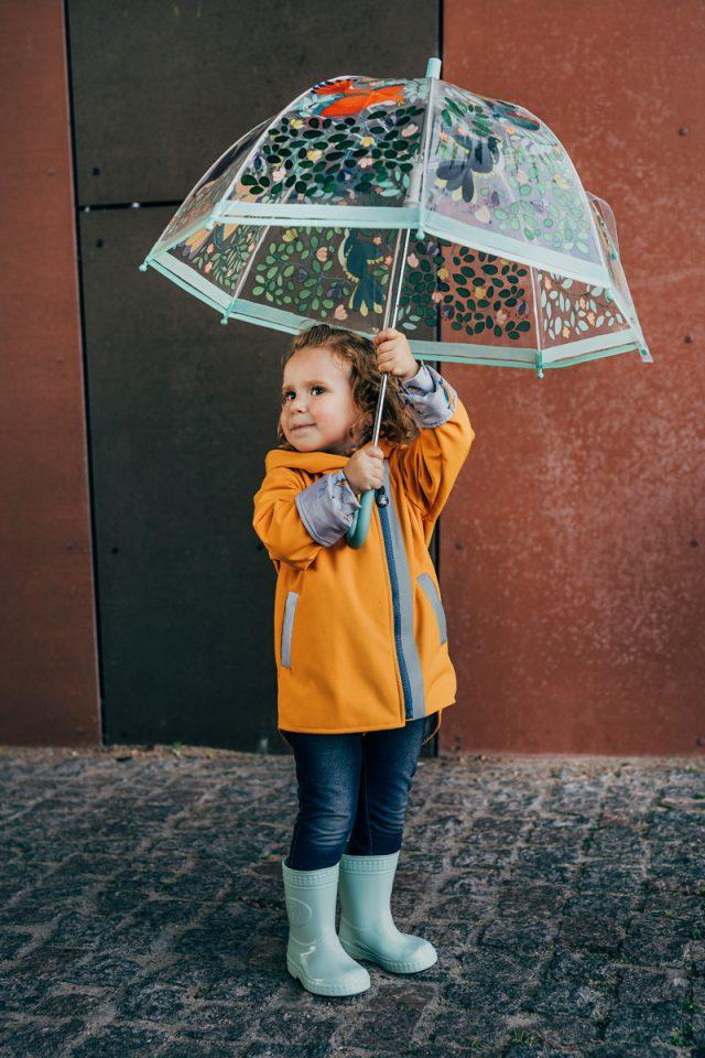 kurtka-softshell-pomaranczowa-wodoodporna-dziewczynka